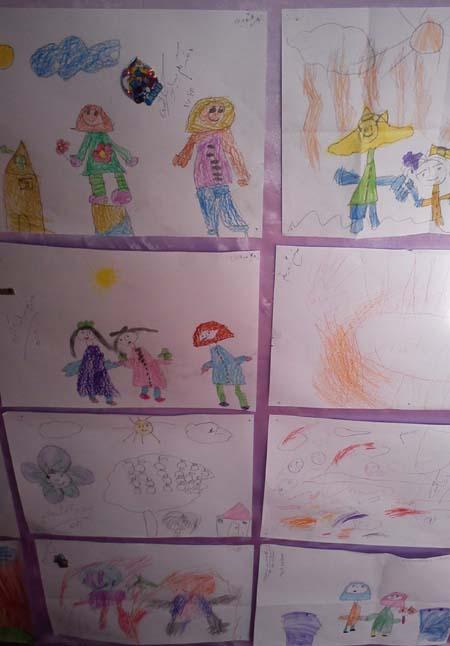 مسابقه نقاشي بچه هاي مهدکودک به مناسبت روز معلم